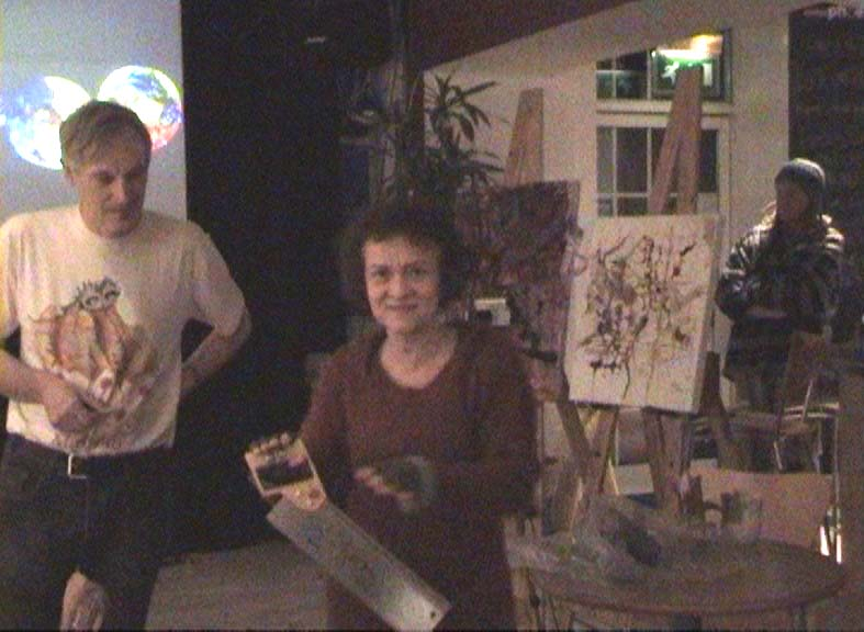 """Kasia, Jim and Chris performing """"The Cutting Edge of Modern Art"""""""