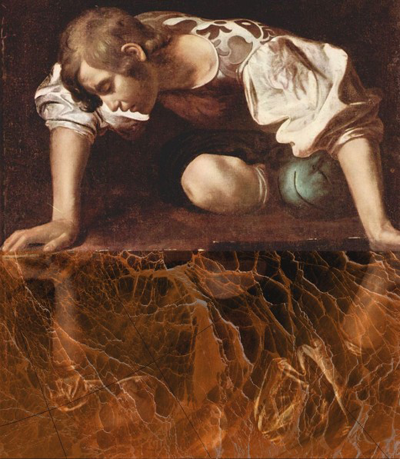 """Narcissus - """"A-Team"""" - With apologies to Caravaggio"""